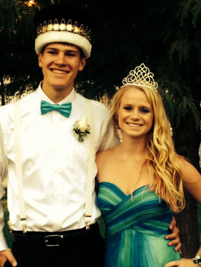 Assumption's queen Lexi Flynn and Bettnedorf's king Eric Hale